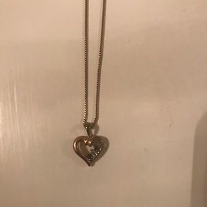 Sapphire heart necklace from Kay's